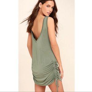 Lulu's Hey Girl Sage Green Shift Dress